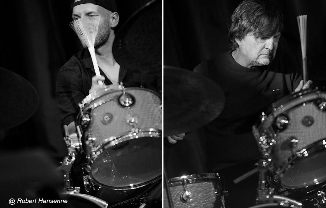 Jazz Broukay 2018 les batteurs : Toine Cnokaert, Dre Pallemaerts
